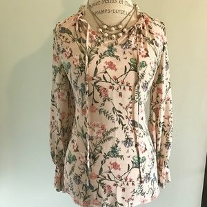 Wildflower peasant top blouse